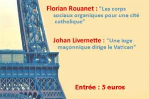 6 octobre 2018 à Paris – Conférences de Johan Livernette et Florian Rouanet