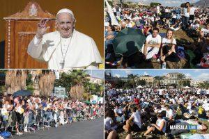 En Sicile, pas de signe de croix par le pape François