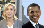 Marine Le Pen à la gauche d'Obama ?