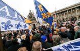 Une centaine de personnes ont rendu hommage à Louis XVI,place de la Concorde, le 21 janvier