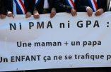 PMA – Le projet du gouvernement, c'est l'invention du «droit à l'enfant» et le règne de la société marchande