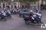 Un Hollande bien isolé sur les Champs-Elysées