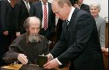 """Soljenitsyne: """"Les Etats-Unis déploient leurs troupes d'occupation dans un pays après l'autre."""""""