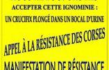 Civitas appelle les Corses à manifester contre Piss Christ