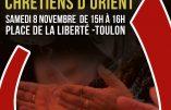 Toulon n'oublie pas les chrétiens d'Orient : rassemblement le 8 novembre