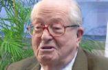 """Jean-Marie Le Pen dénonce le """"racisme biologique"""" du CRIF"""