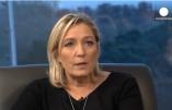 """Interview de Marine Le Pen par Euronews: immigration, sortie de l'UE, Poutine, Crimée-Russie-Ukraine, """"gentils nazis et méchants nazis"""", coalition contre l'EI, Bachar el Assad, fondamentalisme, etc."""