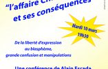 10 mars – conférence : Regard catholique sur l'affaire Charlie Hebdo