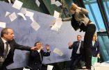 Mario Draghi (BCE) pris à partie par une femme en pleine conférence de presse