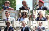 Jany Le Pen, Marie d'Herbais, Marion Sigaut, Roger Holeindre, Carl Lang,…: les interventions des représentants nationaux et catholiques lors du défilé d'hommage à Jeanne d'Arc
