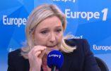 Marine Le Pen opposée à Christiane Taubira, mais visiblement pas à la loi Taubira