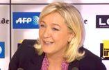 Marine Le Pen ne croit pas en la volonté du pouvoir PS d'éradiquer les islamistes en Syrie
