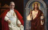 """La doctrine du Christ Roi et l'encyclique """"Quas Primas"""""""
