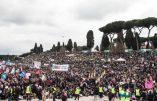Marée humaine à Rome contre l'union gay et pour le respect des droits élémentaires des enfants