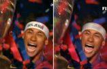 """La FIFA censure les images du bandeau """"100% Jésus"""" de la star brésilienne Neymar"""