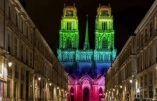 La cathédrale d'Orléans aux couleurs LGTBQI