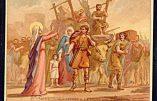 Sainte Geneviève face aux fuyards (citation)