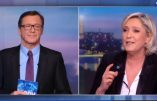 En direct au JT de TF1, Marine Le Pen arrache le masque de l'institut Montaigne, émanation de la haute finance qui téléguide Macron
