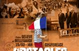 """25 mars 2017, près de Genève -Conférence """"Les obstacles au mondialisme"""" (Béatrice Bourges, Jean-Michel Vernochet)"""