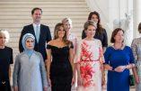 Photo des Premières Dames à Bruxelles avec Monsieur-Madame Gauthier Destenay, le gay compagnon du premier ministre du Luxembourg!