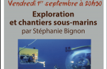 """1er septembre 2017 à Marcigny – Conférence de Stéphanie Bignon """"Exploration et chantiers sous-marins"""""""