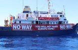 """Le communiqué de Defend Europe : """"Depuis notre arrivée en Méditerranée, les ONG déchantent"""""""