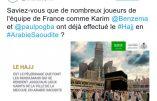 Foot – L'Arabie Saoudite fait l'éloge des joueurs de l'équipe de France venus en pèlerinage à la Mecque