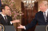 Macron tourne sa veste après avoir rencontré Trump. vidéos avant et après
