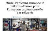 Muriel Pénicaud préfère les «réfugiés» aux Gilets Jaunes