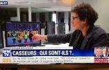 Sylvain Boulouque, «expert» de BFMTV, qui confond drapeau de Picardie et drapeau royaliste