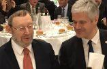 Dîner régional du CRIF avec le Cardinal Barbarin, le ministre Gérald Darmanin et Laurent Wauquiez