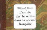 L'entrée des Israélites dans la société française (Abbé Joseph Lémann)