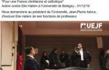 Des extrémistes de l'UEJF perturbent le cours d'Elie Hatem à l'université de Bobigny