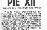 Discours de Pie XII sur la Vocation de la France, prononcé à Notre-Dame de Paris