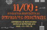 28 septembre 2019 à Lille – Conférence « 11/09 : quelques arguments de physique ordinaire »