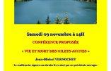 9 novembre 2019 à Aix-les-Bains – Conférence «Vie et mort des Gilets Jaunes» par Jean-Michel Vernochet
