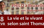 18 février 2020 à Bruxelles – La vie et le vivant selon saint Thomas