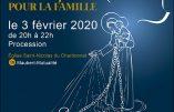 3 février 2020 à Paris – Procession pour la Famille