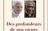 Le cardinal Sarah divulgue la preuve que son texte sur le célibat a été écrit avec le pape émérite Benoît XVI
