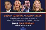 Marion Maréchal à Rome avec Salvini et Orban