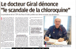 Des parlementaires se soignent à la chloroquine mais leurs électeurs n'y ont pas droit, dénonce le Docteur Giral !