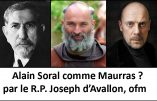 Intéressante disputatio-refutatio entre Alain Soral et l'aumônier de Civitas.