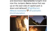 Black Lives Matter et antifas unis dans l'antichristianisme