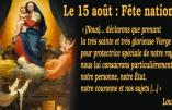 15 août – Civitas rappelle que la Fête de l'Assomption est aussi Fête Nationale
