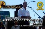 La peur du Covid 19 sert les intérêts du Nouvel Ordre Mondial, explique Alexis Cossette-Trudel au Québec