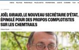 Le secrétaire d'Etat Joël Giraud traité de complotiste pour avoir posé une question sur les chemtrails