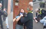 Violence policière inouïe contre une femme qui ne porte pas de masque
