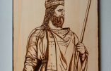 Charlemagne, pyrogravure