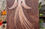 Pyrogravure pour la fête de l'Archange Saint Michel