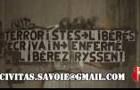 Action «Libérez Ryssen» menée par Civitas en Haute-Savoie